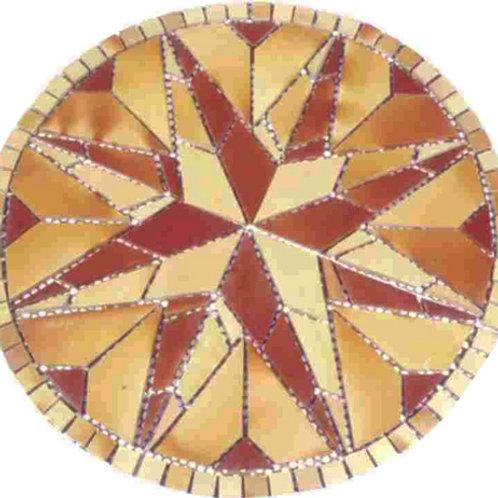 Rústico Mosaico Rosa dos Ventos