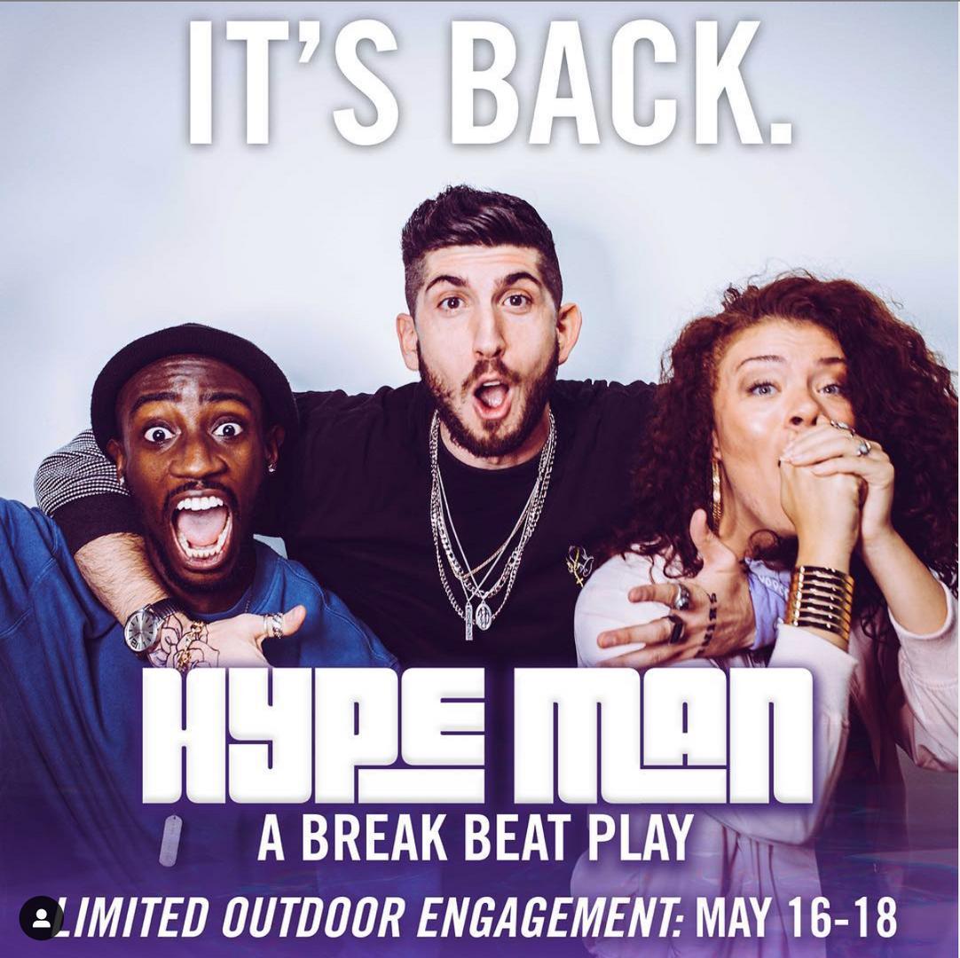 'HYPE MAN: a break beat play' Post for Social
