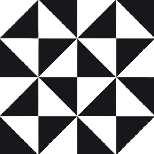 Azulejo Preto e Branco 11 (AJPB-11)