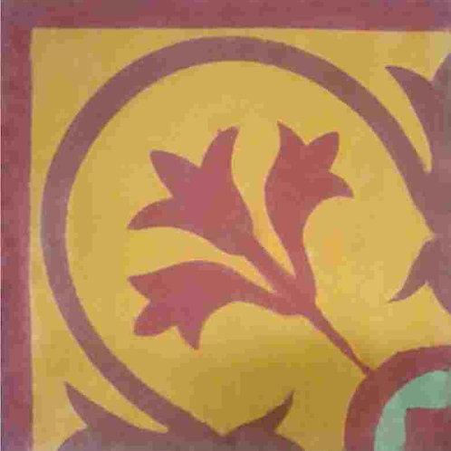 Ladrilho Hidráulico MHV 003 Flor de Liz - Canto