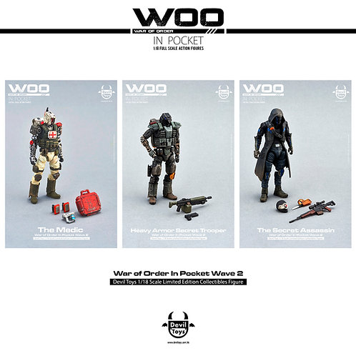 WOO in Pocket 1/18 series wave 2(set)international)