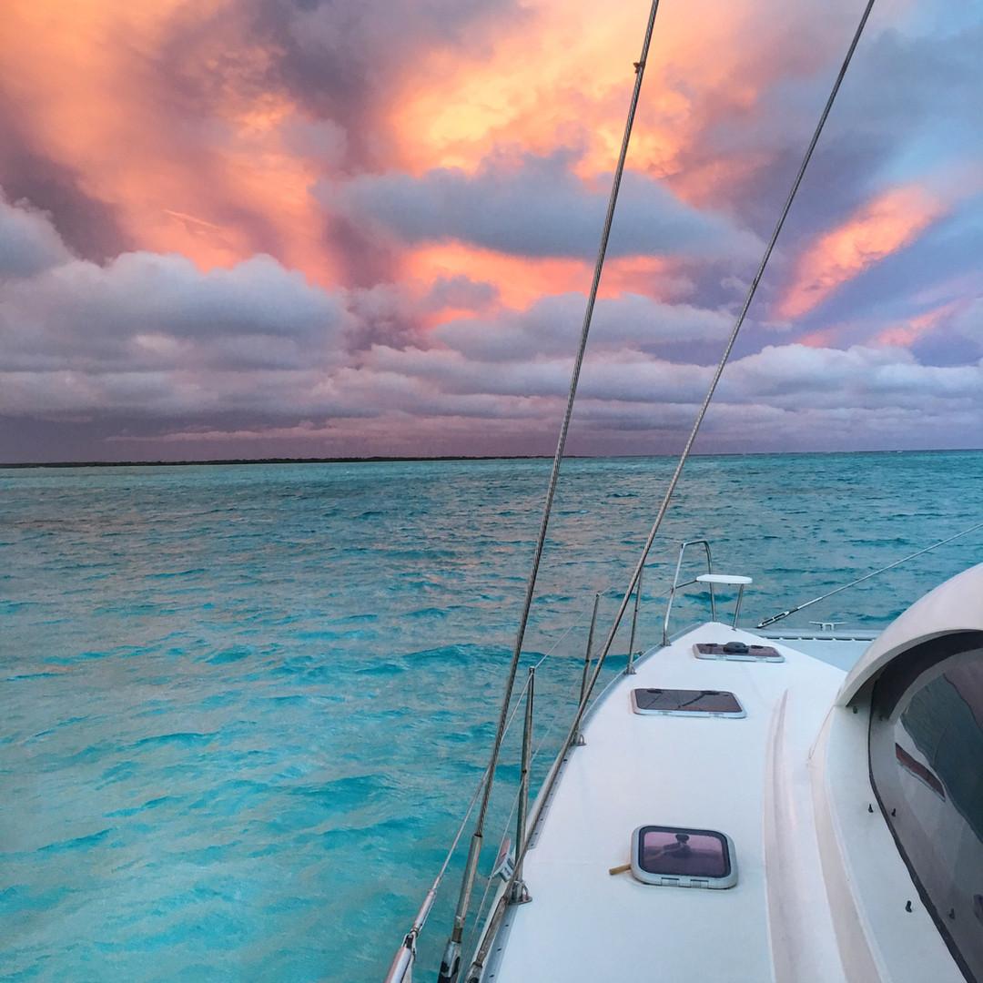 Bahamas Magic Sunset Sky Sailing Charter