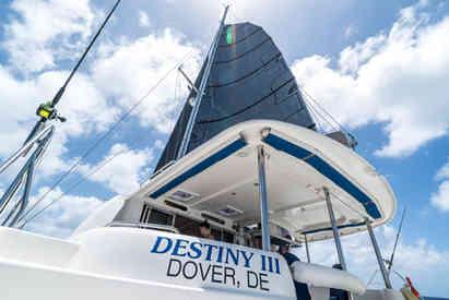 Destiny III Cockpit Bahamas Sailing catamaran Charters