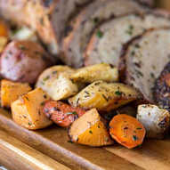 pork tenderloin with potatoes and carrot