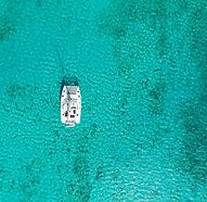 Aerial View Turquoise Sea Bahamas Sailing Catamaran Charters