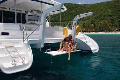 Leopard 46 Swimming platform Bahamas Sailing Catamaran charters