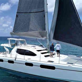 Roller-furling-jib-main-sail-calvert-sailmakers-Calvert-Sails-Bahamas-Catamaran-Charters