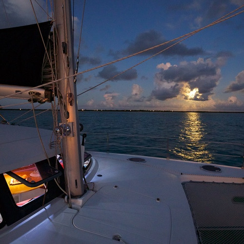 Moonrise Galley Bahamas sailing Catamaran Charters