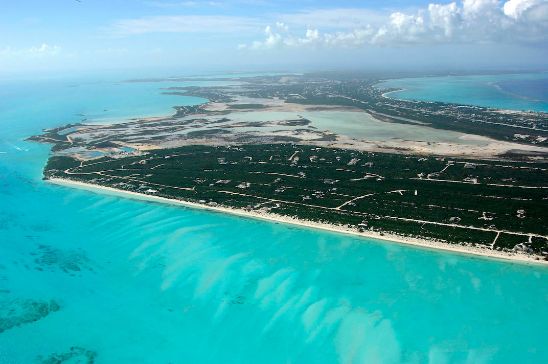 Aerial View Providenciales Swaying Palms