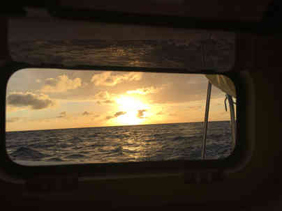 Sunset View POrt Hole Sailing Bahamas Catamaran Charter