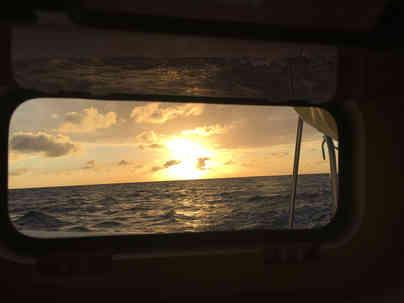 Sunset View POrt Hole Sailing Bahamas Catamaran Charter