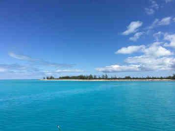 Clear-blue-sea-cat-island-Atwood-Harbour-Beach-Bahamas-Sailing-Catamaran-Charters