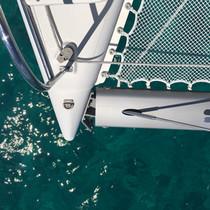 Catamaran Bow Bahamas sailing charter