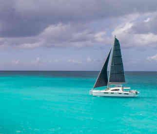 Bright turquoise sea Bahamas Sailing Catamaran Charters