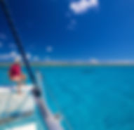 Sitting Bow Bahamas Sailing Catamaran Charters
