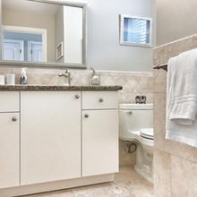 Modern Cream Bathroom Ocean View Condo Tci