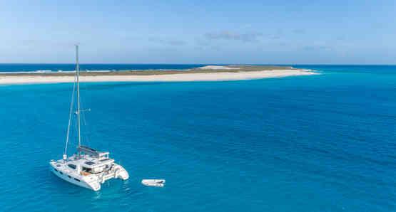 Out islands Beach Sailing Bahamas Catamaran Charter