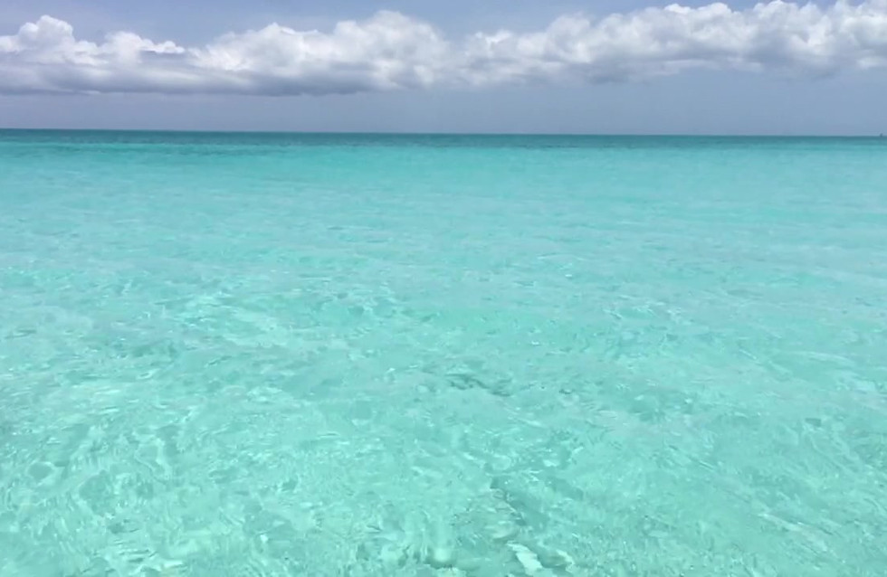 Turquoise clear water TCI