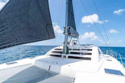 Leopard Catamaran Black Sails Sailing Bahamas Catamaran Charter