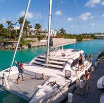 Family at Dock Catamaran Charters