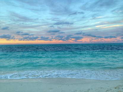 Turquoise Sea and Sunset Sky