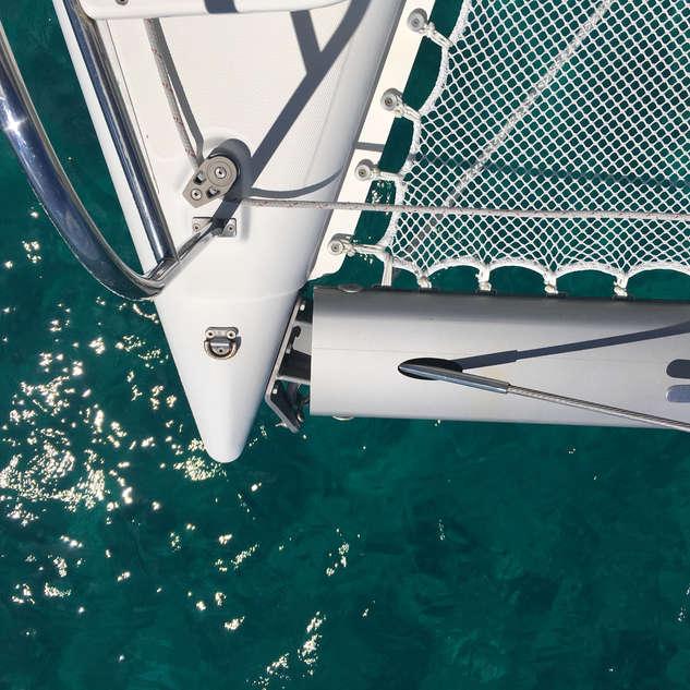 Top View Catamaran Bow Bahamas Charters