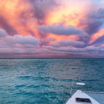 Bahamas Pink Sky catamaran sailing charter