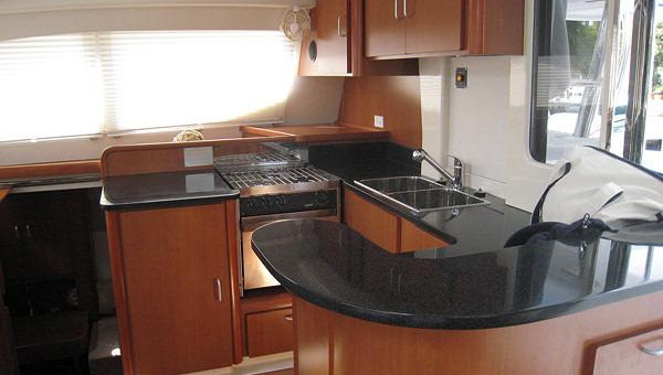 Leopard 46 Galley Bahamas Catamaran Sailing Charters