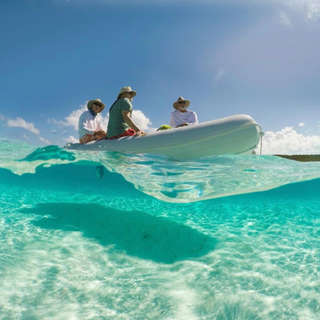Dinghy Ride in crystal clear water