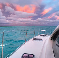 Destiny Sailing Bahamas charters sunset