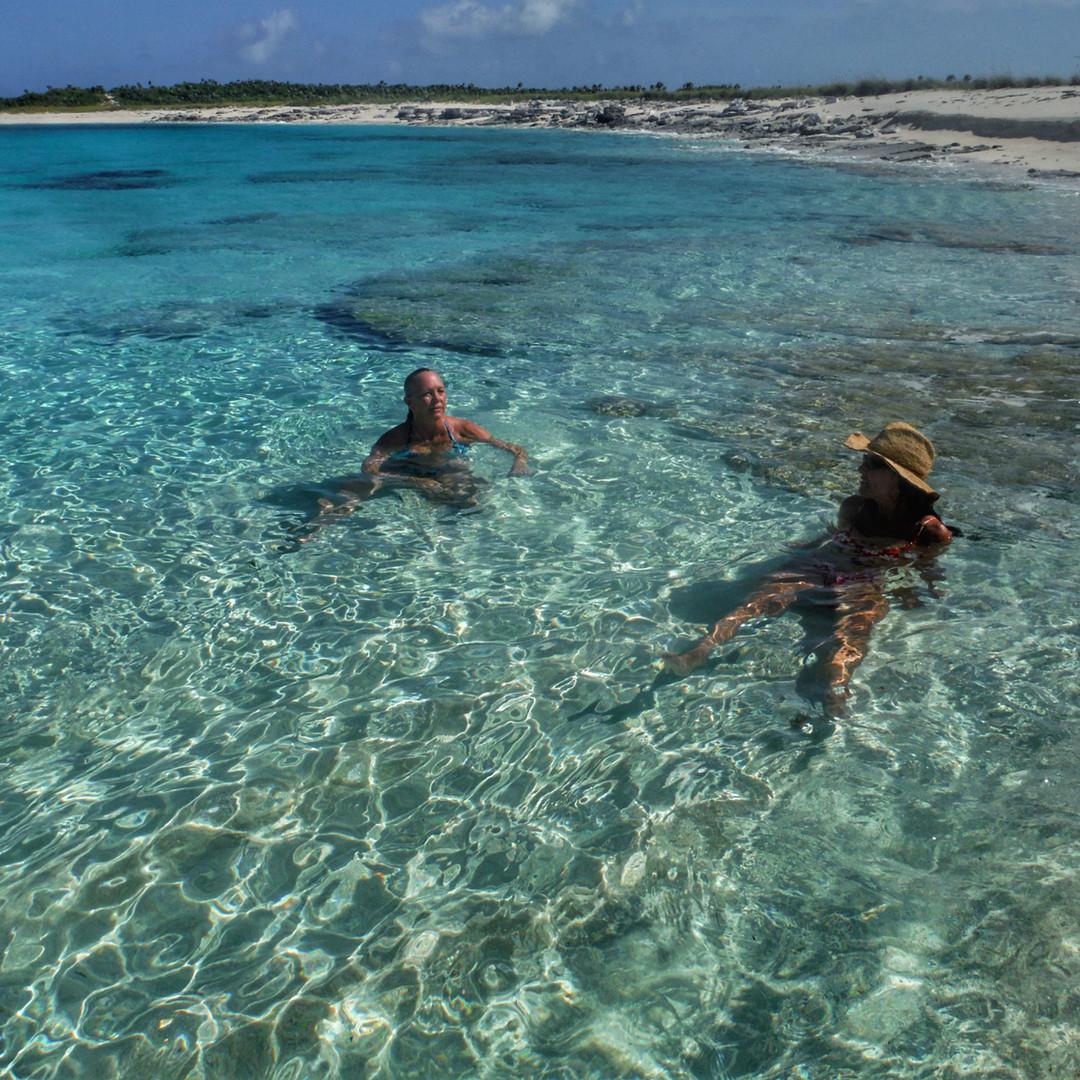 Bahamas Sailing Catamaran Charter Swimming