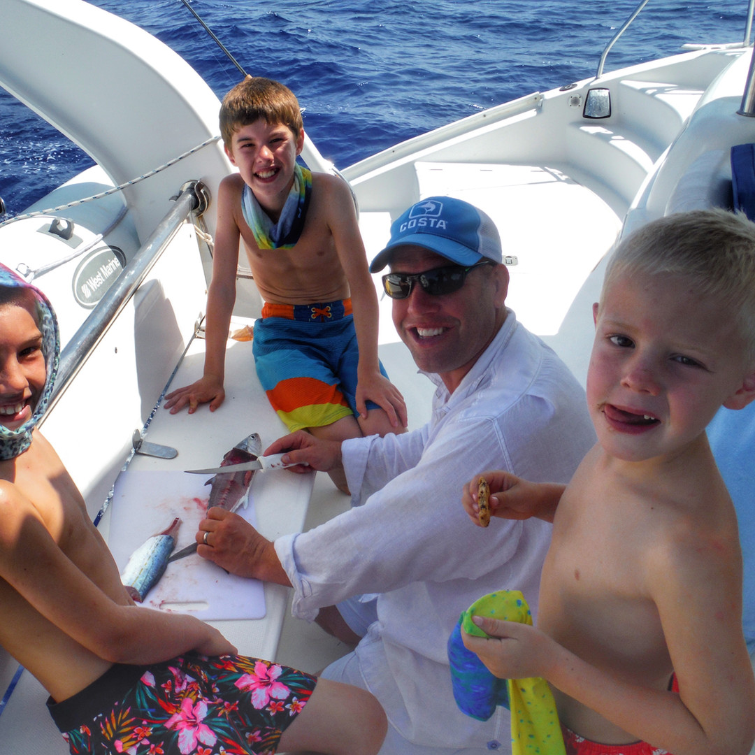 Sailing Charter Fish Filet Family