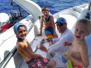 Fish Filet Family Bahamas Sailing Catamaran Charters