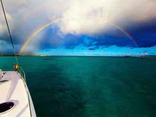 Double Rainbow Ocean Bahamas Sailing Catamaran Charters