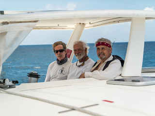 Captain Calvert friends Following Columbus Bahamas Sailing Catamaran Charters