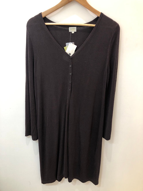 Long Chocolate Cardigan - Bamboo, Cashmere, Wool
