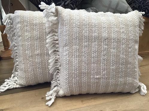 Wallis white/natural cushion 50x50cm