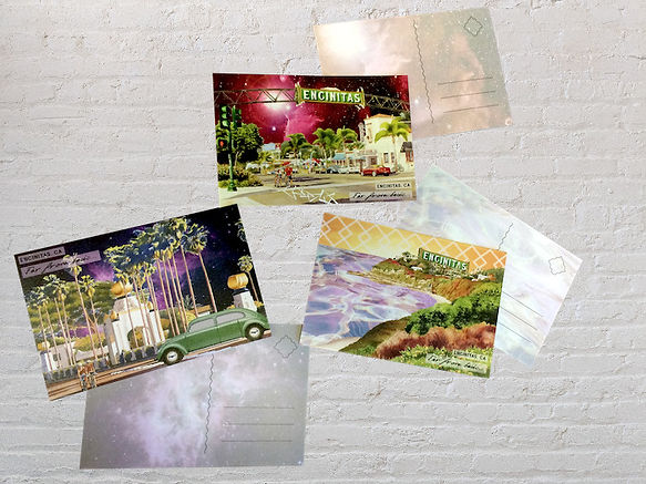 Custom printed postcards of Encinitas locales