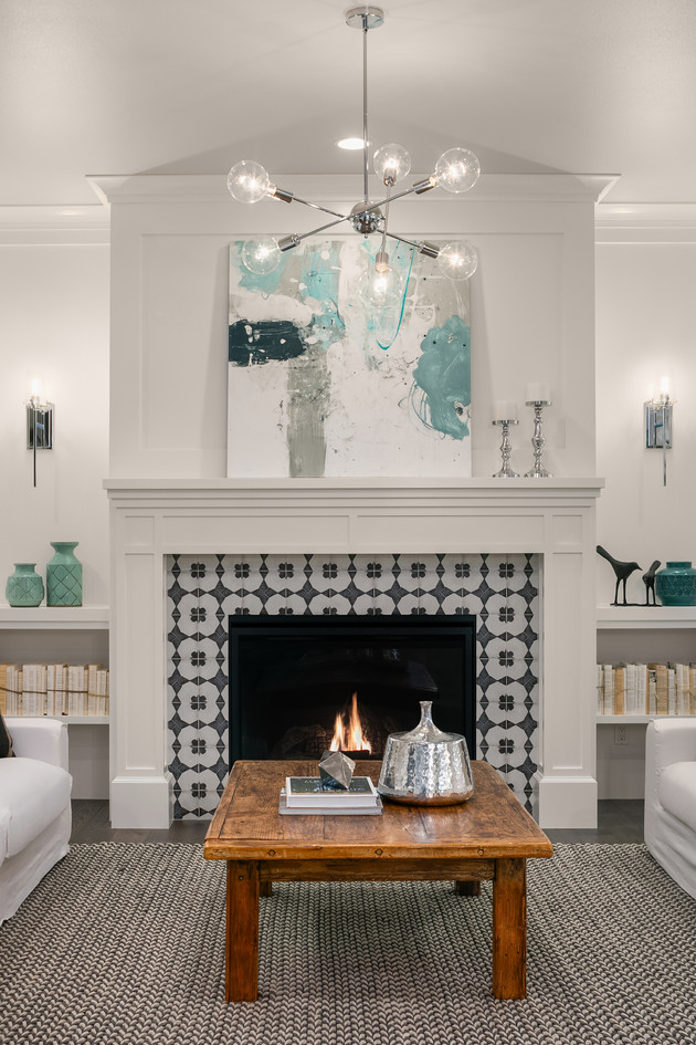 Enfort Homes Kirkland Living Fireplace.j