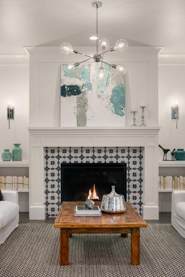 Enfort Homes Kirkland Living Fireplace.j