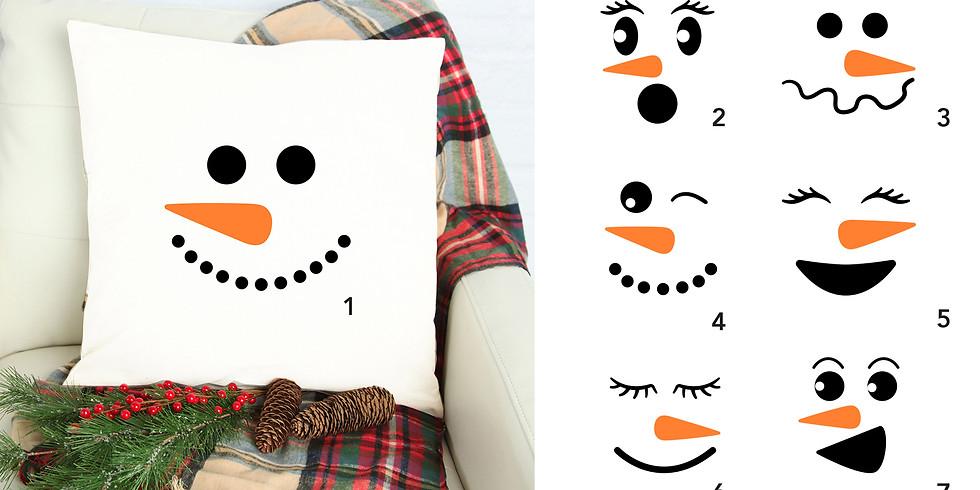 DIY Winter Snowman Canvas Pillows