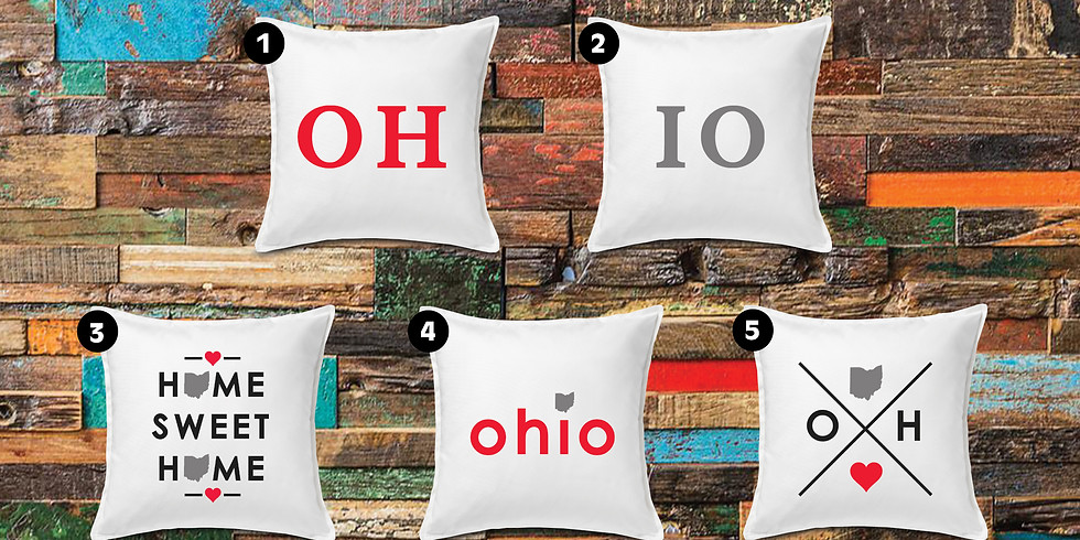 Ohio Painted Pillows