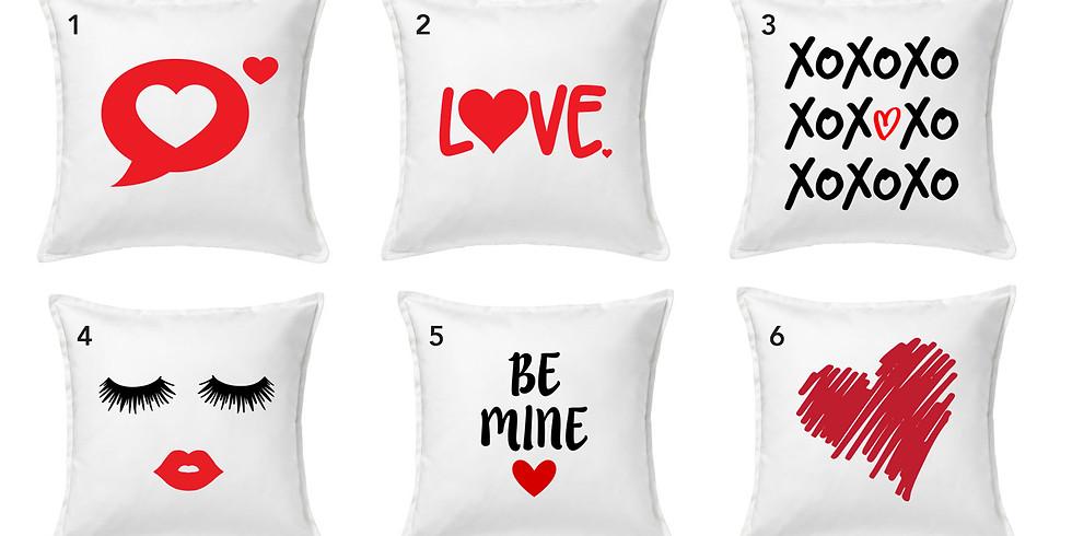 DIY Valentine Canvas Pillows