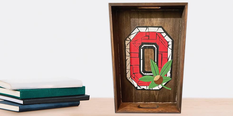 Ohio State Paper Mosaic Tray