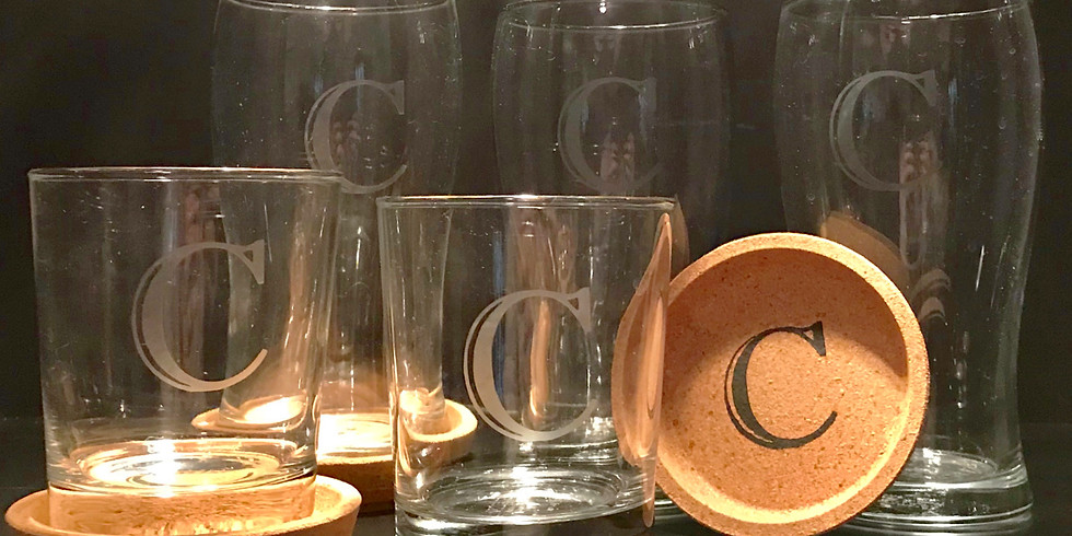 DIY Personalized Beer or Cocktail Glasses and Coasters