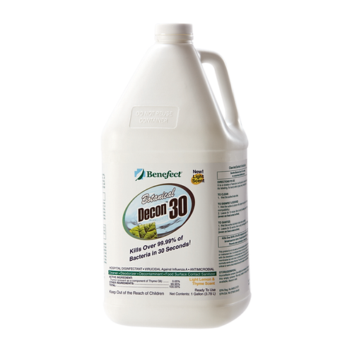Benefect, Antimicrobial, Benefect Botanical Decon 30 Cleaner & Disinfectant, 1 G