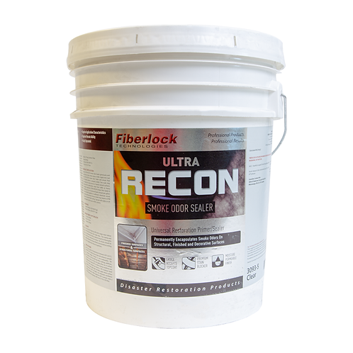 Fiberlock, Smoke Odor Sealer, Ultra Recon, Clear, 5 Gallons