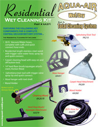 AA371 – The Residential wet cleaning kit has the key components for a complete