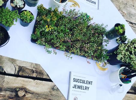 Succulent Jewelry Class