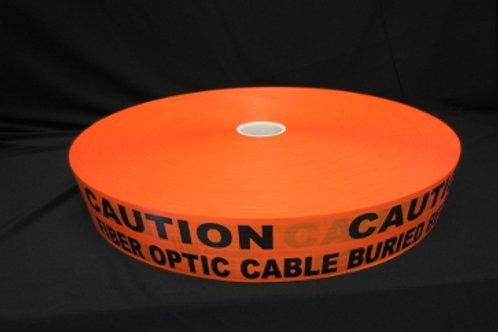 "3""x 6000' 4 & 6mil Stretch ORG Non Detct. Fiber Optic"